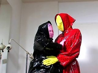 Two horny plastic mask lovers Part 1 of 5