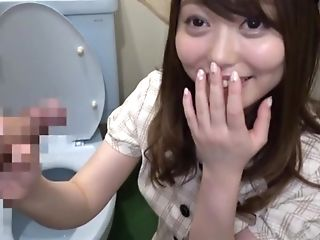 Cutie Amane Shizuka is a little bit shy but she devours a wiener