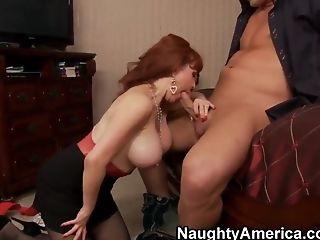 Christian fucks mature redhead Sexy Vanessa
