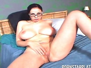 Big Tits, Couple, Gianna Michaels, Glasses, Handjob, Hardcore, HD, Moaning, Natural Tits, Office,