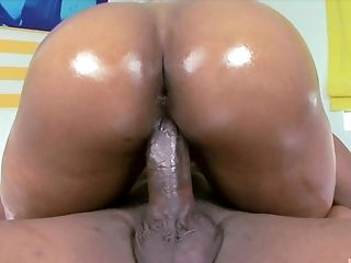 Angel is an alluring ebony babe who cannot resist riding a cock
