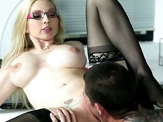Beauty, Big Tits, Blonde, Boss, Cute, Glasses, Horny, Office, Oral Sex, Secretary,
