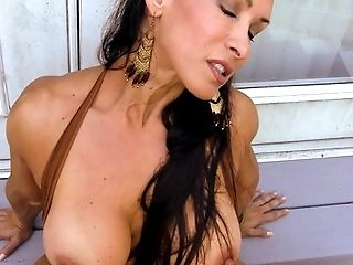 Denise Masino - Hippy UpSkirt Arm and Pussy Pump - Female Bodybuilder