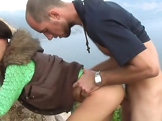 Aurita in outdoor porn video of a real amateur couple