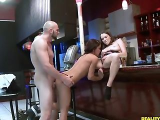 Babe, Brunette, Dildo, Group Sex, Hardcore, HD, Money, Natural Tits, Reality, Sex Toys,