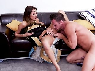 Enchanting darling Anissa Kate gets a good pounding from a muscled lover