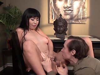 Marica Hase is a nasty brunette Asian who enjoys a big dick