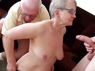 Granny, HD, Husband, Mature, MILF, Old And Young, Stud, Threesome, Young,