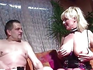 German Huge Tit MILF Seduce to Fuck when Husband away