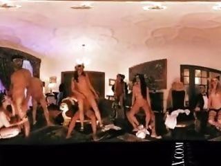 VR 360 Colombian big ballroom orgy