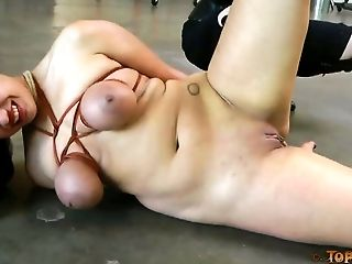 Secretary with tied up big tits Dana Vixen is punished by boss's wife