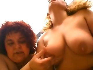 Two ugly fat whores suck and ride one dick in the cheap brothel
