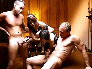 Premium babes in double penetration cock swapping XXX