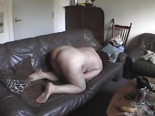 Jose with hot ass moaning while masturbating indoors