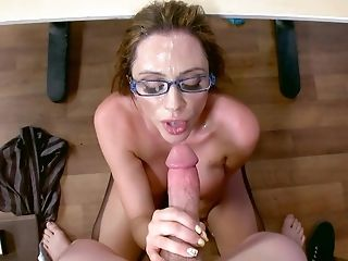 Busty mature teacher throats ans fucks in complete POV