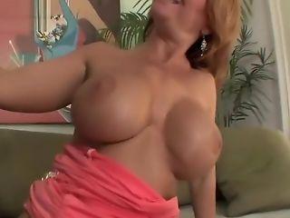 Top mature milf redhead in stockings fucks great