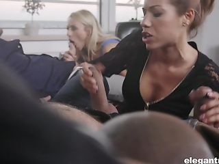 Brittany Bardot and Rose Valerie have a blast fucking two men