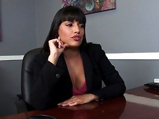 Executive secretary horny by the office table