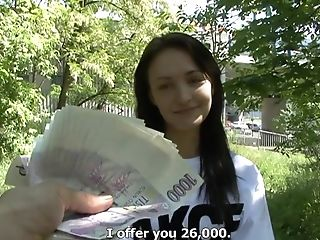 Amateur, Babe, Blowjob, Brunette, Czech, European, From Behind, Gorgeous, Money, Nature,