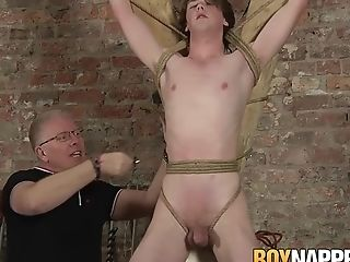 Cute twink sub Kai Alexander endures torture by older dom