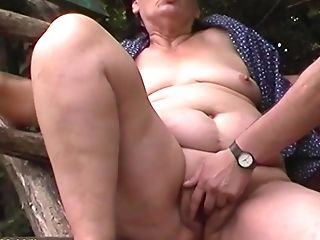 Anal Sex, Granny, Mom, Old, Outdoor, Threesome,