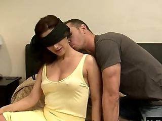Seductive blindfolded honey enjoys being plowed really hard