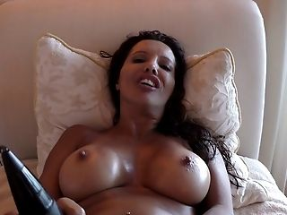 Francesca Le shows off her beautiful body and uses the black vibrator