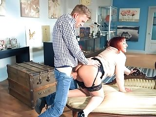Young neighbor comes and fucks her pussy when she's home alone