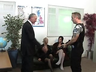 Melissa Black gets her pussy pounded by a stranger in his office