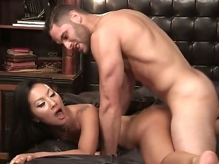 Skilled whore Asa Akira is having wild sex with one passionate partner