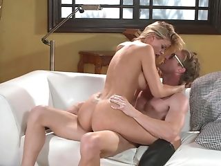 Porn doll loves the warm sperm dripping on her clit and belly