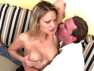 Blowing a big load of dick makes Samantha Jolie happier than anything
