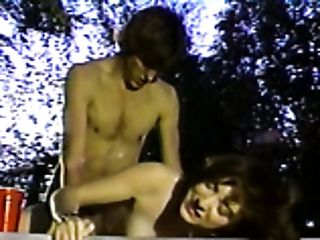 Voracious and nasty redhead milf by the pool riding young man