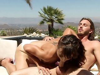 Horny Cytherea opens her legs for a pulsating love tool