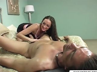 Blowjob, Couple, Cowgirl, Dick, Face Fucking, Handjob, Hardcore, Lingerie, Long Hair, Michelle Lay,