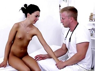 Andrea's doctor will this time use his cock to quickly cure her