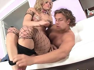 Alexis Texas shows off her ass in fishnets