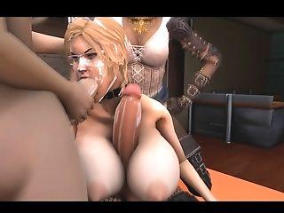3D Futa, Futanari Gangbang Orgy