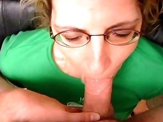Dirty mature lady licking and sucking a man's anus and his large cock