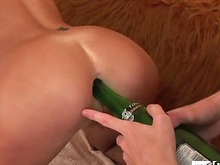 Masturbate Ass Hole Bottle and had Anal Sex