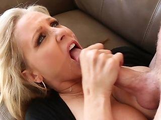 Big Tits, Blonde, Blowjob, Cum In Mouth, Cumshot, Hardcore, Julia Ann, Long Hair, MILF, Missionary,